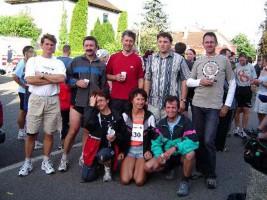 Gruppenbild unserer Mannschaft nach dem Lauf