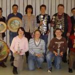 Gruppenbild mit Jugendschützenkönig Christoph Rudolph, Schützenkönig Uwe Rommel sowie den Siegern des Jahresabschlussschießens und der Vereinsmeisterschaft 2007