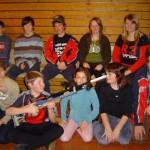 Gruppenbild beim Jugendligawettlampf am 6.1.08