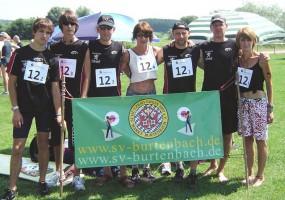 ambitionierte Läufer des Vereins vor dem Start zum Landkreislauf 2010