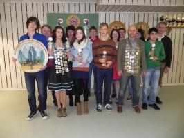 Sieger des Jahresabschlusschießens und der Vereinsmeisterschaft 2012 mit den Königen 2013
