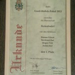 Urkunde Gustl-Holick Pokal