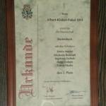 Urkunde Albert-Kleber Pokal